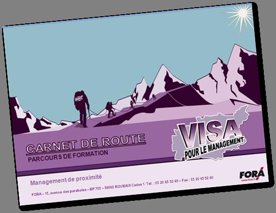 FORA viuel support pédagogique carnet de route visa pour le management